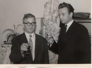 1963 po dymplomie z prof. Rączkowskim
