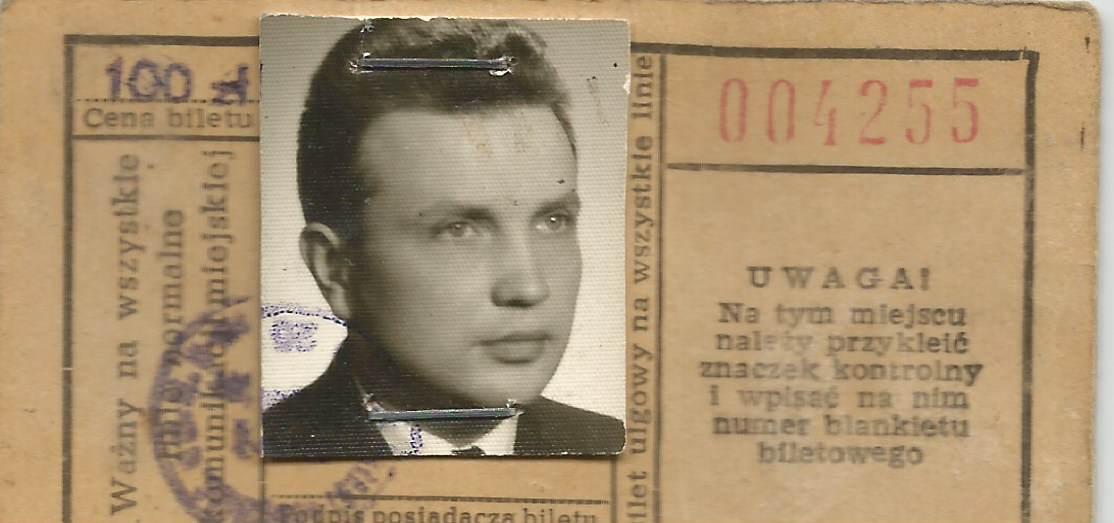 Bilet miesięczny z roku 1965